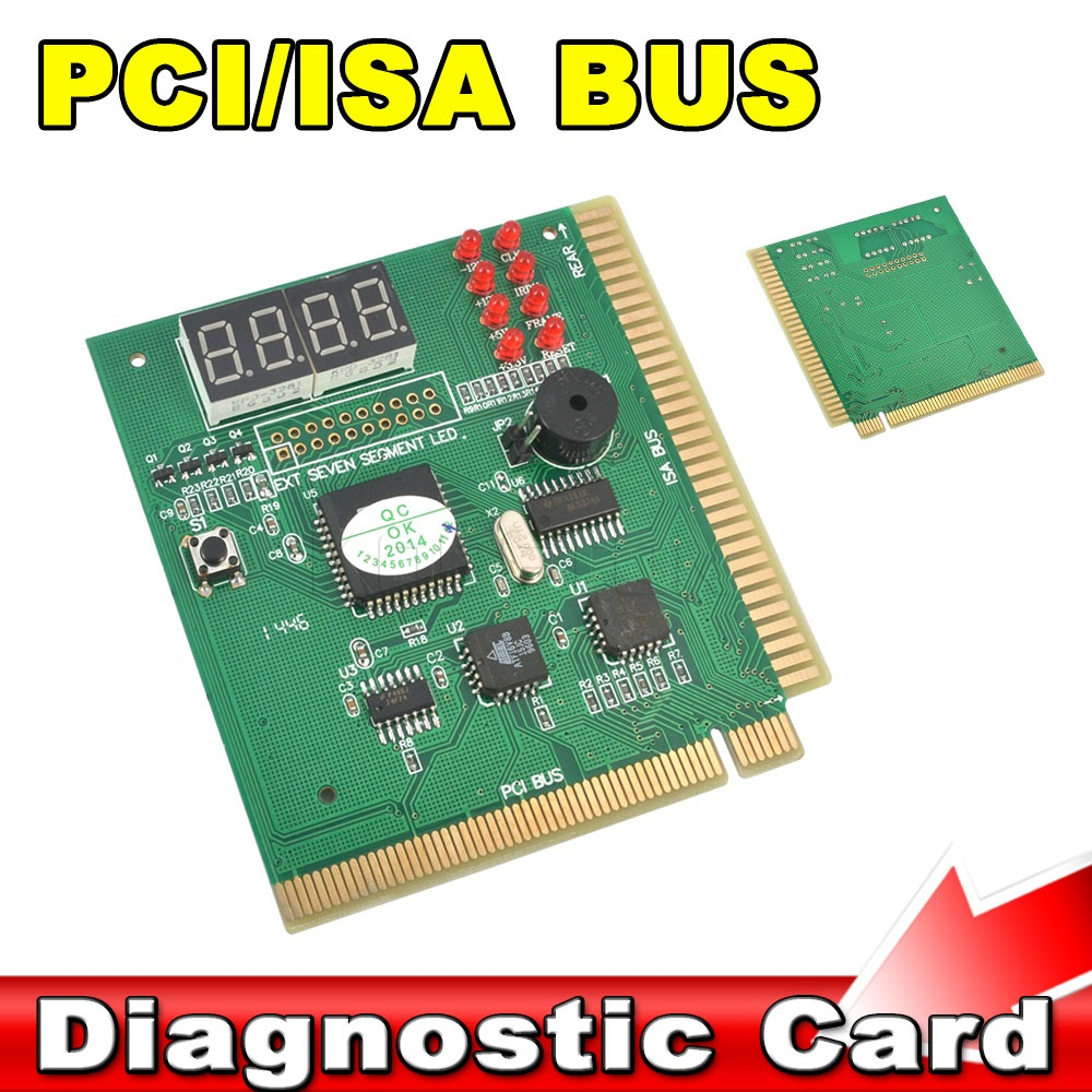 4 Digit PCI-E ISA Bus LPC PC Laptop Motherboard Diagnostic Test Analyzer Tester PCI Diagnostic Debug POST Card Probe(China (Mainland))