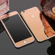 Lastest Front+Back Premium Plating Mirror Tempered Glass For IPhone 5 5S Full Cover Screen Protector Film