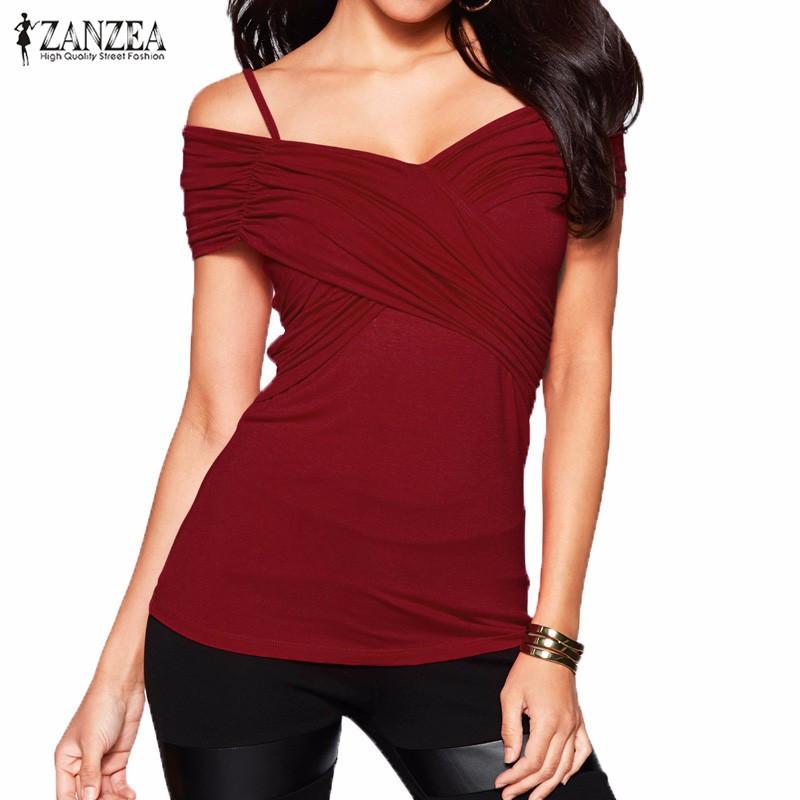 Zanzea Blusas 2016 Women Summer Blouses Slim Fit Shirts