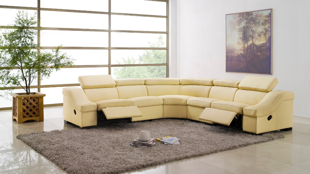 cow genuine leather sofa living room home furniture couch ...
