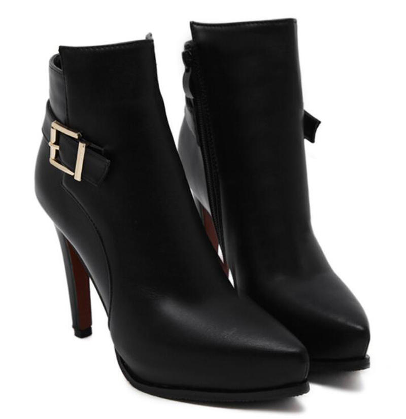 Excellent  Style High Heels Ankle Boot New Boots Winter Fashion Red Women Boots