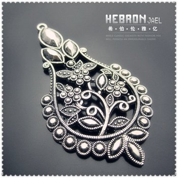 Free shipping(20pieces)Silver Jewelry Flower Pendant(3105#)wholesale and retail Fashion Jewelry Accessory/Fashion Accessory