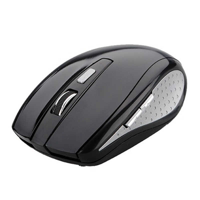 Black 2.4GHz 10m Wireless 800-1200DPI 5 Buttons RF Optical Mouse + USB 2.0 Min Receiver Gaming Mice For Laptop Computer PC(China (Mainland))