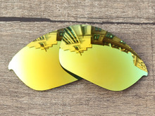 Polycarbonate-24K Golden Mirror Replacement Lenses For Half Jacket 2.0 Sunglasses Frame 100% UVA & UVB Protection