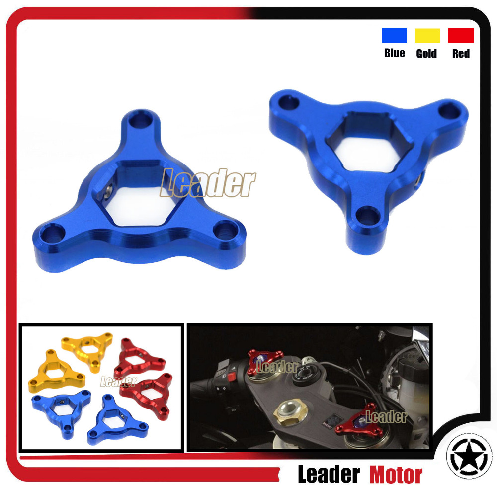 For Suzuki GSXR 600 GSXR 750 Motorcycle Accessories 19mm CNC Aluminum Suspension Fork Preload Adjusters Blue