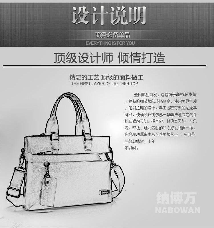 100% GENUINE LEATHER Cowhide Shoulder Bag Business Messenger Bag Men