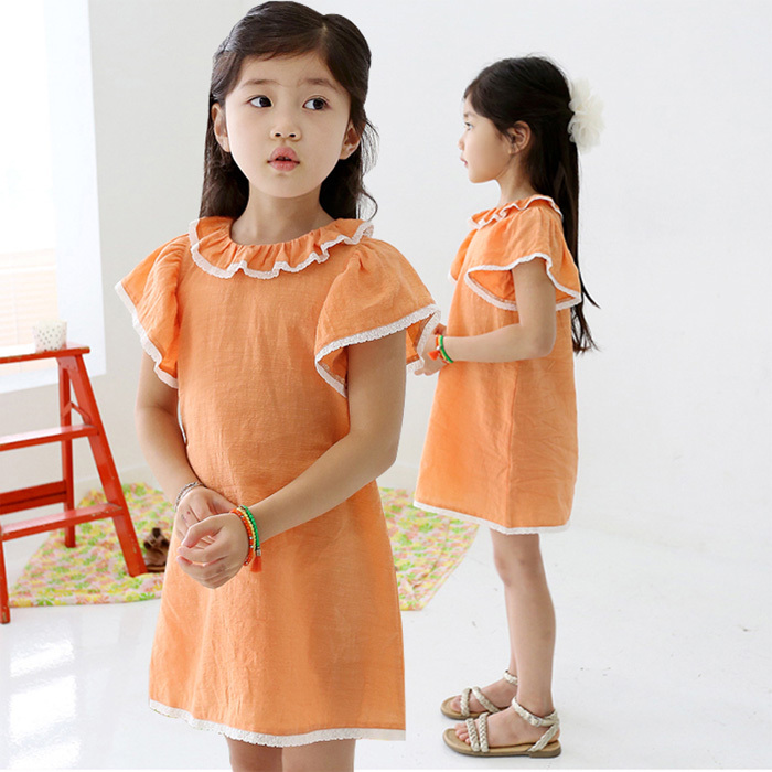 Платье для девочек Little Girls dress KUKU 2015 Q008 Girls Summer Dress T180