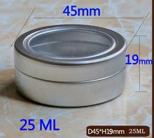 10pcs count open window Round Aluminium Can storage case 25ML