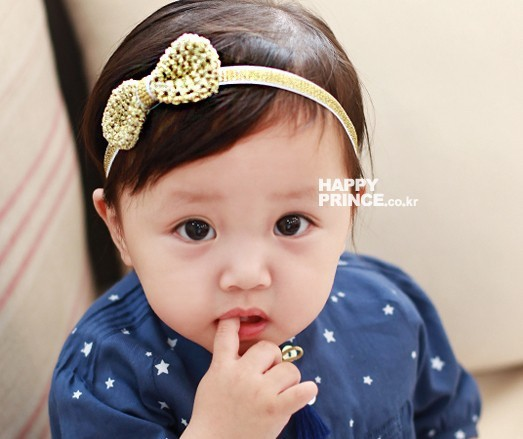 2015 new Girls Handmade Crocheting Stretch Headband Classic Gold and Silver Hairband Baby Girl Princess Headband 10ps/lot(China (Mainland))