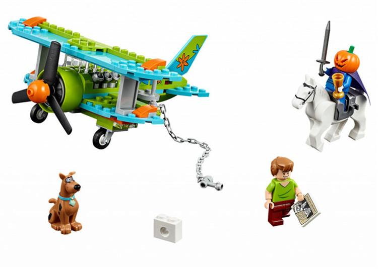 POP 127PCS/SET Scooby-Doo Mystery Plane Adventures DOO Dog Shaggy Headless Horseman Minifigures Building Blocks Bricks Toys<br><br>Aliexpress