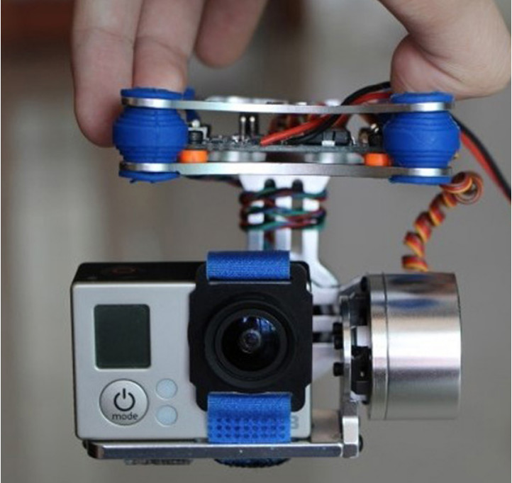 FPV 2 Axis Brushless Gimbal With Controller For DJI Phantom For GoPro 3
