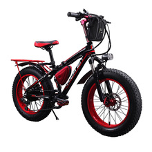 Richbit RT-015 Fat Tire Ebike 7 Speeds Electric Bicycle 350Watt 36V Electric Bike 20 Inch Electric Mountain Bike Snow Cycling
