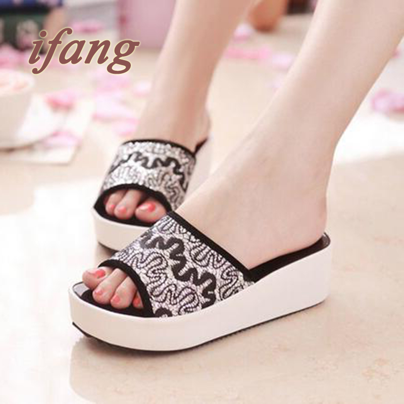 Summer Women Sandals 2016 Lace Mesh Leather Slippers Women Shoes Slip on Flip Flops Slides Sandals Walking Shoes<br><br>Aliexpress