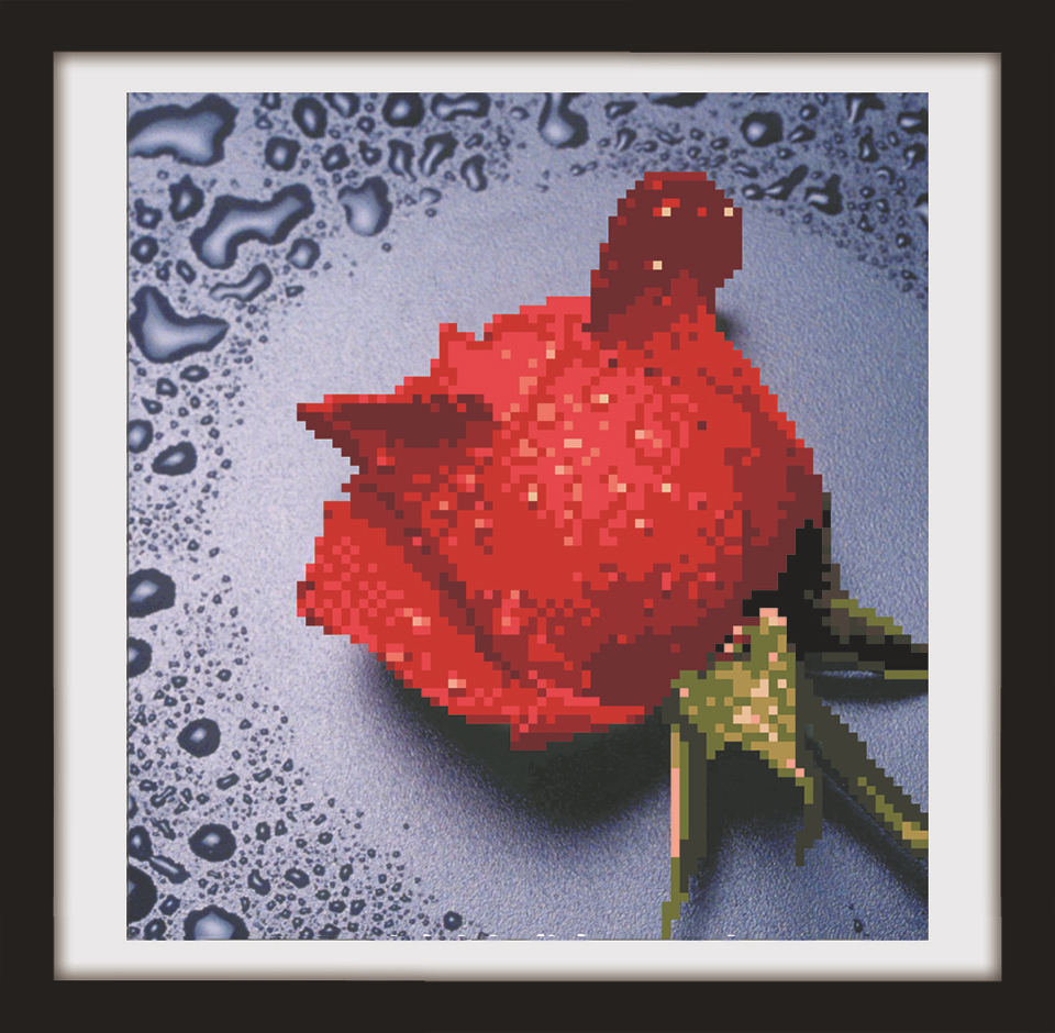 5D DIY Magic Rhinestones Diamond Painting Cross Stitch Kit Embroidery Beads Flores Rose Picture Handmade Hobby Needlework Crafts(China (Mainland))