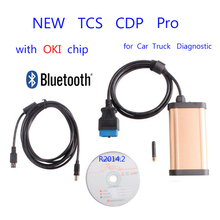 2015 Newest TCS CDP Pro plus for Autocom with OKI chip Bluetooth OBD2 ODBII for car truck diagnostic scanner tools keygen(China (Mainland))