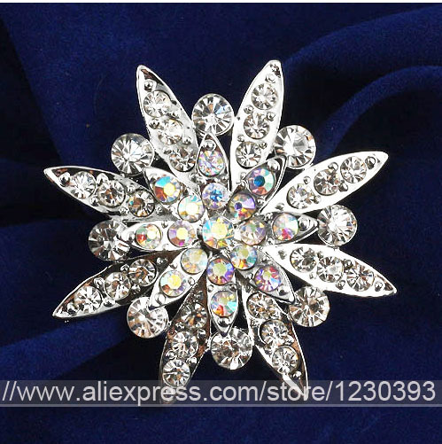 2015 Rushed Real The Hunger Games Wedding Dress Brooches Fab Flower Bouquet Brooch Colorful Diamante Wedding Party Broach Uk(China (Mainland))