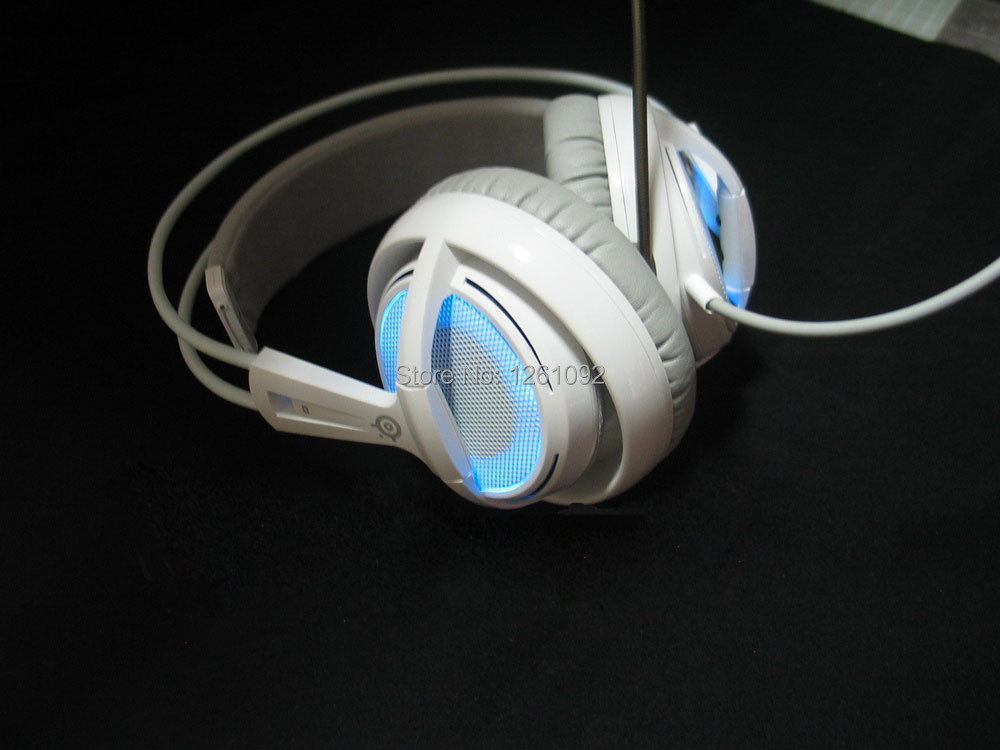 Steelseries Siberia V2 Frostblue Blue Gaming Headphone, Support Driver (Steelseries Engine) Free Shipping(China (Mainland))