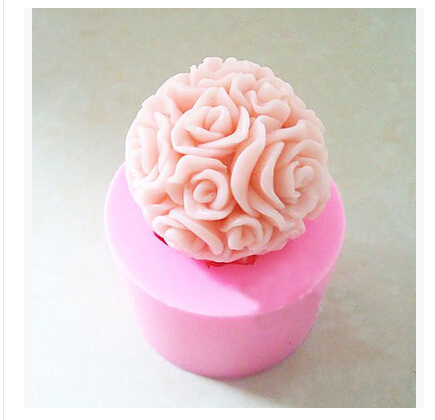 Rose modelling silicon 3D soap mold Cake decoration mold Cake mold manual Handmade soap mold candle NO.:SO128(China (Mainland))