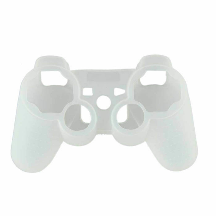 Hot Marketing White New Protective Silicone Gel Skin Case Cover for Playstation 3 PS3 Controller(China (Mainland))
