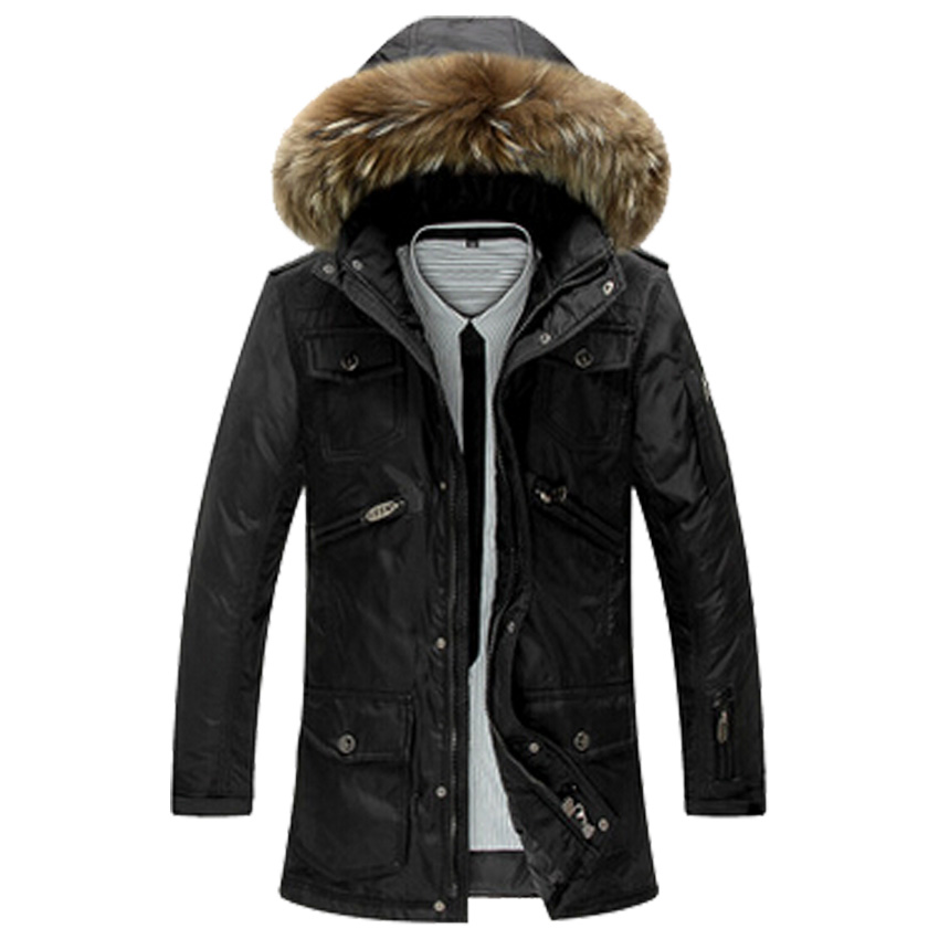 free shipping men long style winter down jacket coat with ...