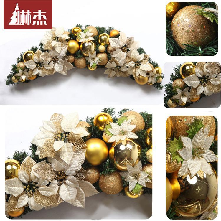 120cm Christmas claw rattan Decorative Wreaths for Christmas and New Year grinalda do Natal Christmas decoration FREE SHIPPING(China (Mainland))