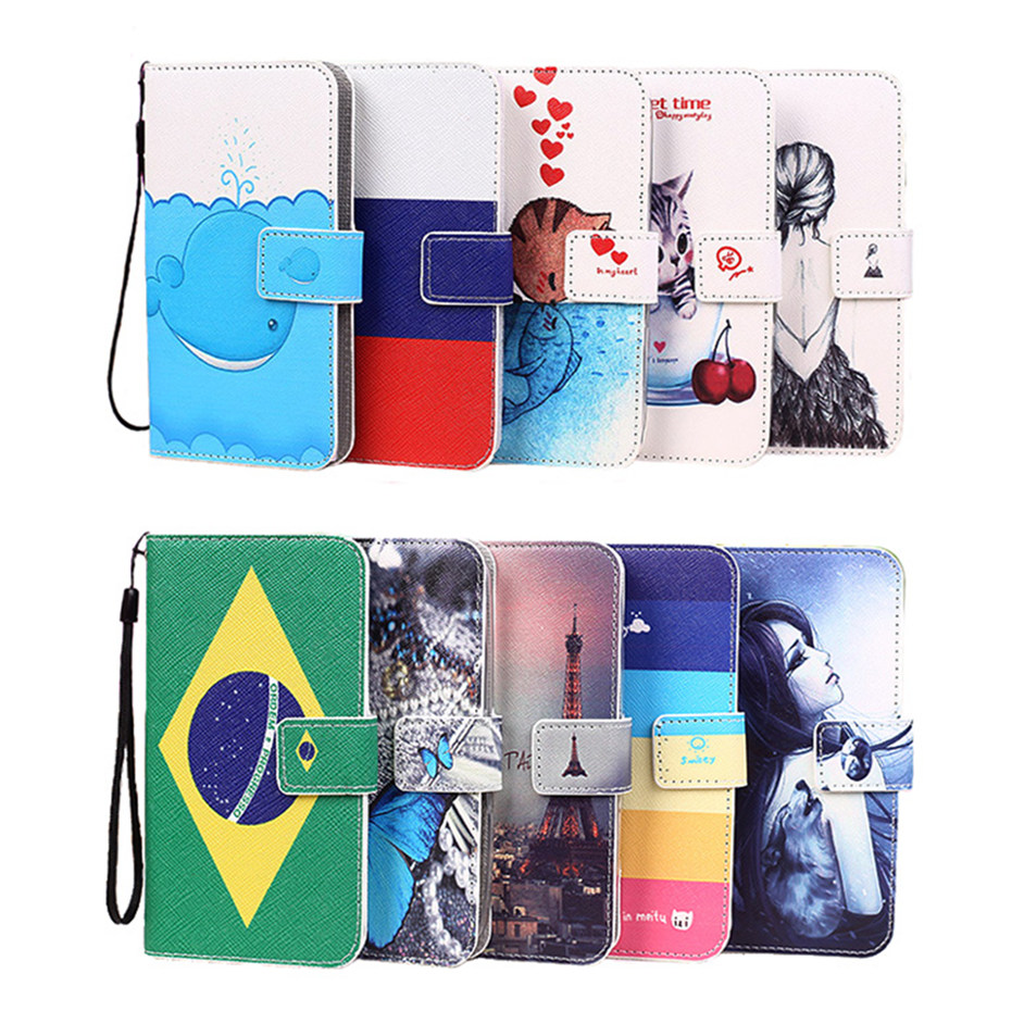 New Colorful PU Leather Case for Lenovo P770 Eiffel Tower Butterfly Kitty Girl Brazil Russian Flag Pattern Phone Cover(China (Mainland))