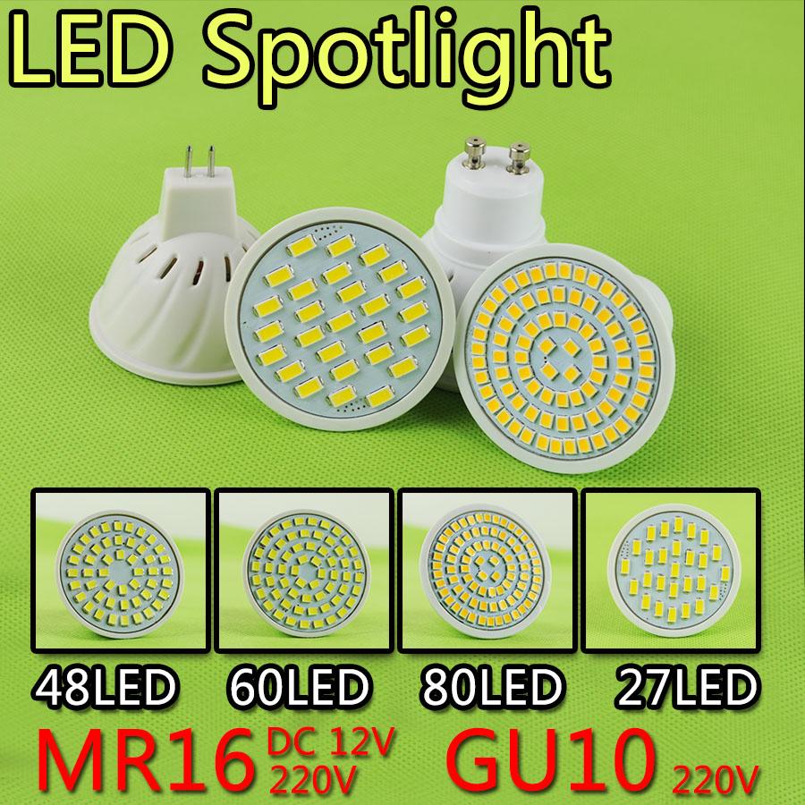 2016 Max80LEDs Gu10 Mr16 12V 220V LED Lamp LED Spotlight 5W 6W 8W 9W GU10 Spot light Lampada LED Bulb lighting Chandelier Foyer(China (Mainland))