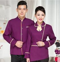 Sommelier chinois tops manches longues serveur uniformes hôtel serveuse uniformes automne garçon porter des vêtements