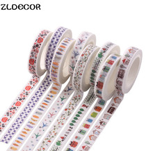 Buy ZLDECOR 8mm*7m Adhesive Tape Scrapbooking DIY Craft Sticky Deco Masking Japanese Paper Washi Tape Multicolour for $1.29 in AliExpress store