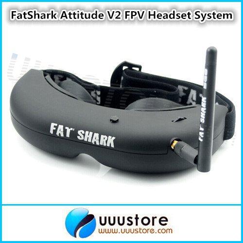 FatShark Attitude V2 FPV Headset Video Glasses System w ...