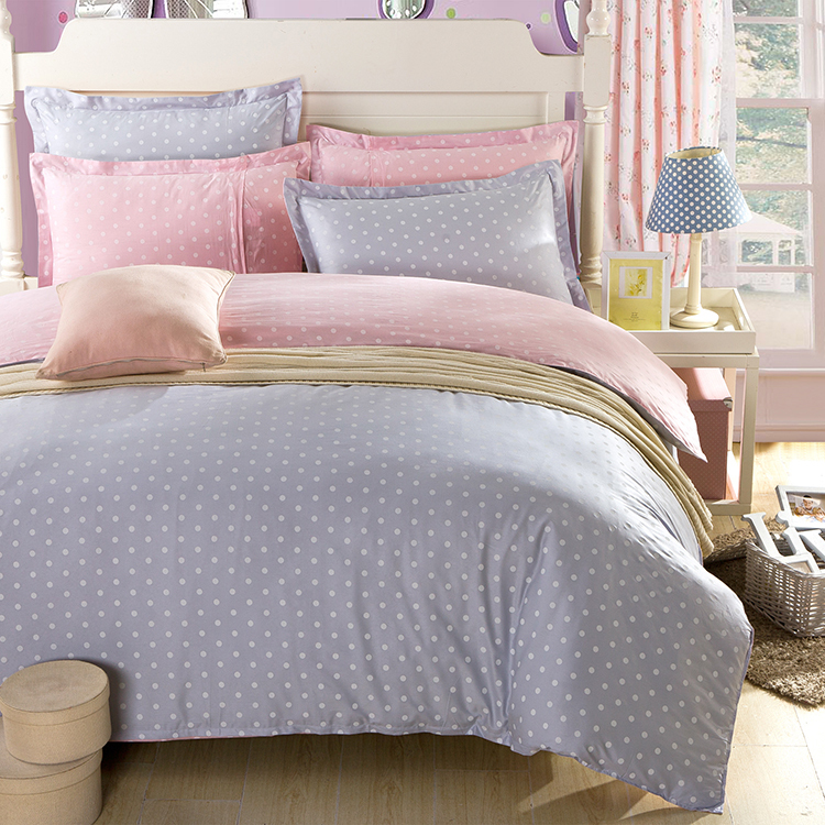 Pink And Grey Waves 100 Cotton Duvet Cover Bedding
