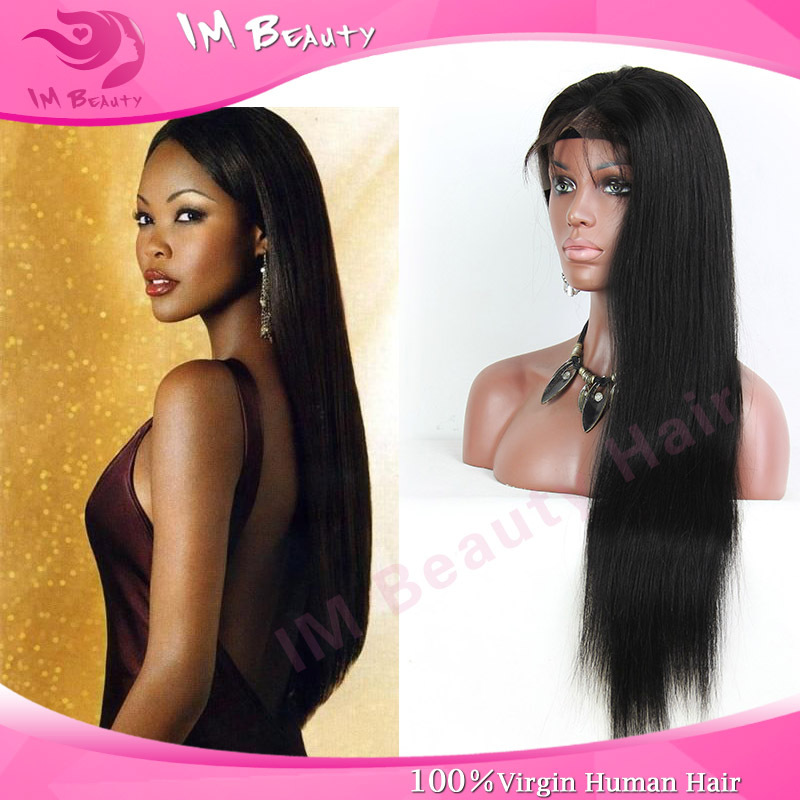 100% Unprocessed Glueless Full Lace Human Hair Wigs Brazilian Virgin Hair Straight For Black Women Lace Front Human Wigs Clips()