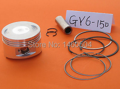 Piston Kit GY6 57.4mm pin 15mm for the 150cc 4-stroke QMJ QMI/152 GY6 engines scooter, Made In Taiwan!(China (Mainland))