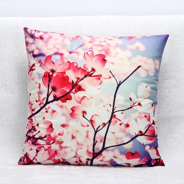 3D Plum flower home decor short plush sofa cushion pillow Car Cushion Decor pillowcase office Chair Cushion(China (Mainland))