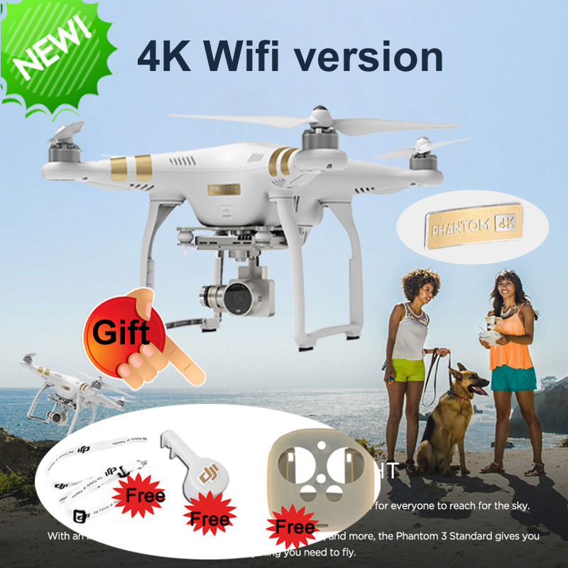 DJI Phantom 3 4k Version Rc Drone with Camera HD 4k 3Aixs Gimbal FPV Quadcopter VS DJI Phantom 3 Professional Fast Shipping(China (Mainland))