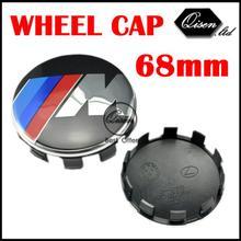 4 X Aluminium Metal /// M 68MM WHEEL Hub Center Caps 10 foot for 328i X3 X5 X6 Z4 M3 M5 M6 E83 E70 E71 E85 E86 E90 E93 #SO233(China (Mainland))