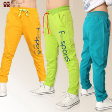 2016 new Boys fashion sports letters printing long pants school kids clothes children teenage casual baby boy clothes trousers(China (Mainland))