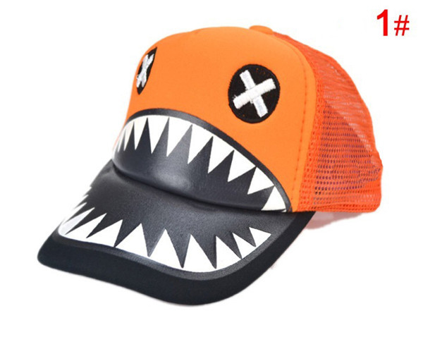 Super fanny kids baseball cap Cartoon big mouth monster snapback hats Children hip hop cap for 1-4 years 1pc H647(China (Mainland))