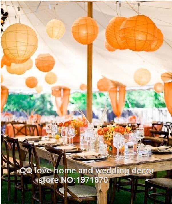 10pcs/lot Orange color Chinese paper lanterns Child DIY Halloween party decorations Free shipping(China (Mainland))