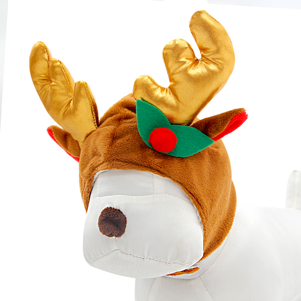 Pet Dog Warm Clothing Dog Winter Hats Elk Antlers Cute Cat Dog Grooming Hats Christmas Pet Hats Pet Supplies S/M/L(China (Mainland))