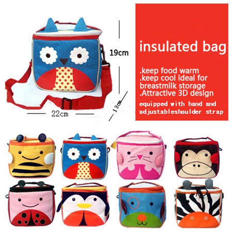 Baby Bottle Insulated Bag 3D Print Milk Bottle Storage Adjustable Shoulder Strap Kids Cool Storage Bags Zoo Insulation Bag(China (Mainland))
