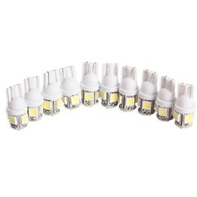 10PCS T10 5050 5SMD LED White Light Car Side Wedge Tail Light Lamp Bright High Quality H1E1
