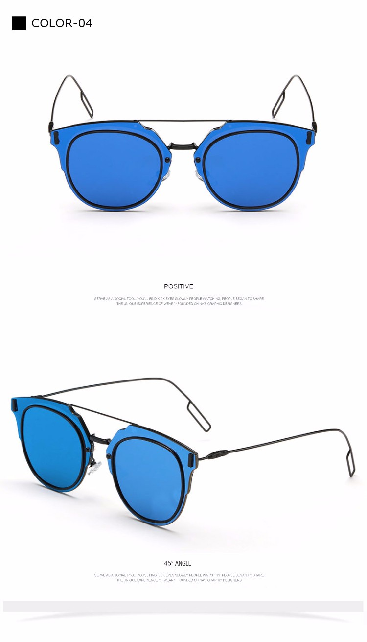 Fashion Sunglasses Women Or Men 2016 Luxury Brand Designer Sun Glasses For Ladies Female Oculos So Real UV400 Vintage RS199