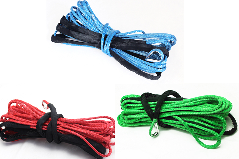 Free Shipping 9mm*15m UHMWPE Winch Line with thimble Vehicle Synthetic Winch Rope(China (Mainland))