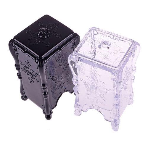 Practical Storage Box Makeup Cotton Pad Cosmetic Organizer Jewelry Case Storage Box Holder Butterfly#48095(China (Mainland))