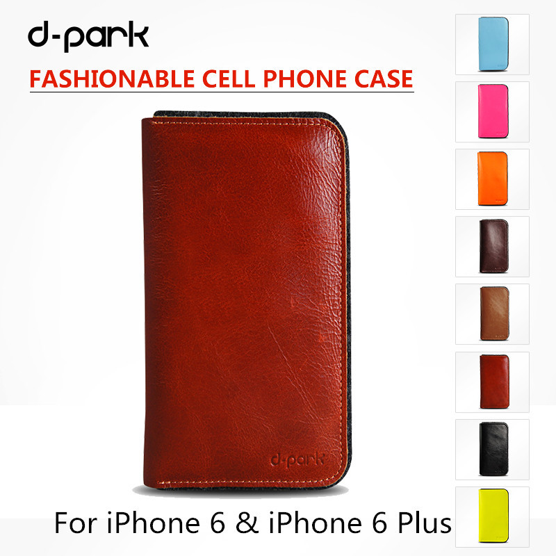Top Quality Genuine Leather & Wool Felt Flip Case for iPhone 6/6s Plus 5.5 inch Wallet Case With Card Slot inside(China (Mainland))