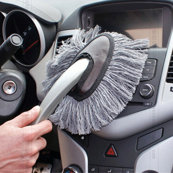 Super Sale!! 1 Pieces Multi-functional Car Duster Cleaning Dirt Dust Clean care Brushes Dusting Tool Mop Gray Free shipping(China (Mainland))