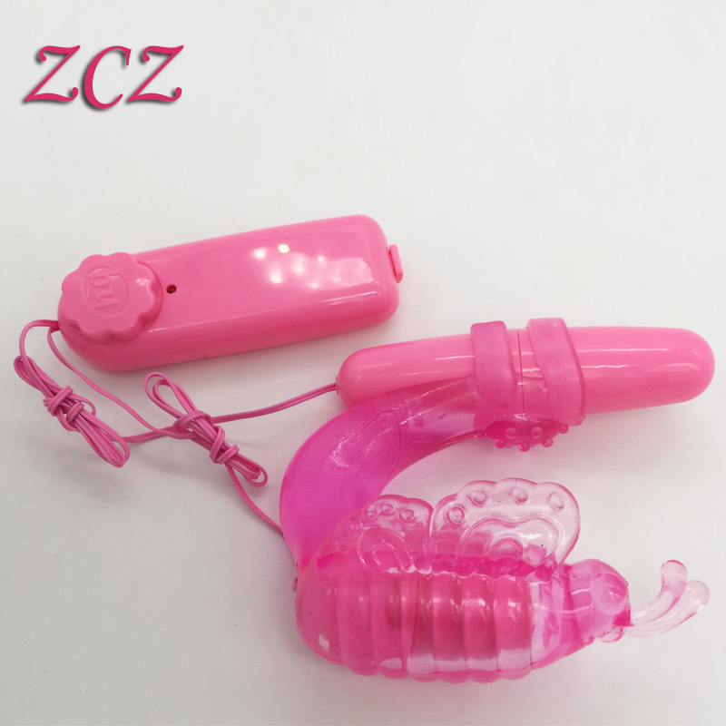 Butterfly Female Masturbation Double Vibrator Egg,Clit and G spot Orgasm Massager Stick,Vibrating Stick,Sex Products for Women(China (Mainland))