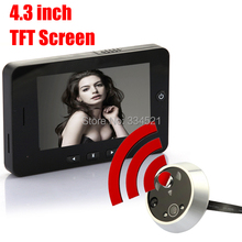 4.3 inch Digital TFT Screen Door Peephole Viewer Phone System With Night Vision Suppor Spanish Doorbell Motion Detection