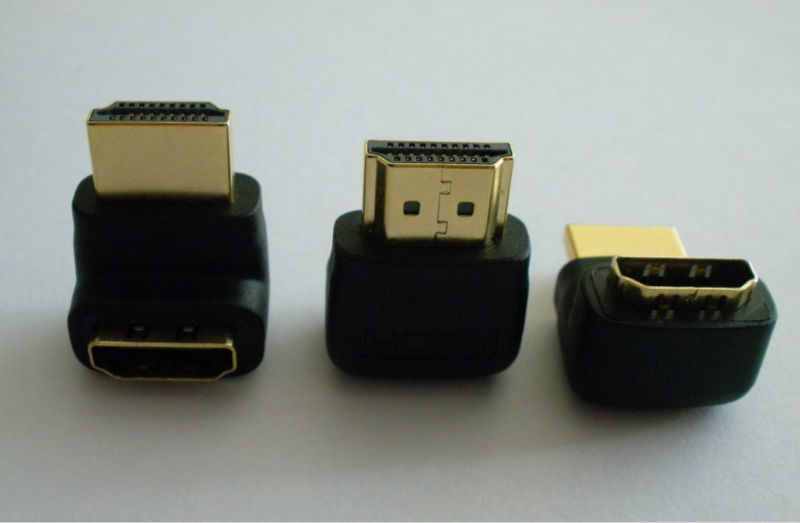 Free Shipping HDMI Male to Female 270 degree angle adapter adaptor For TV PC DVD(China (Mainland))